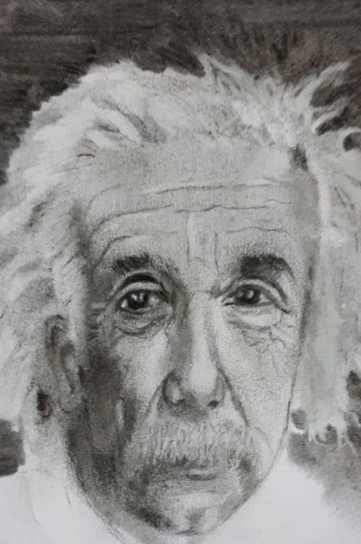 Albert Einstein par chano